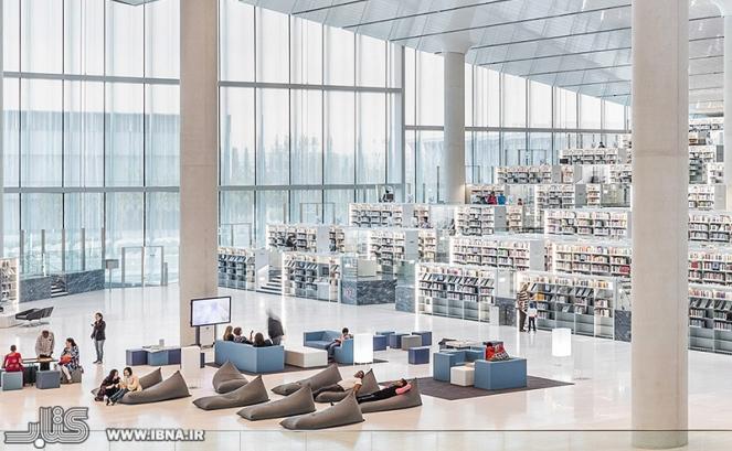 کتابخانه غولپیکر قطر، بهشتی ادبی با بیش از یک میلیون کتاب